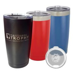 VACUUM INSULATED TUMBLER W/CLEAR LID 20OZ. (STORE PICK-UP ONLY)