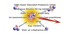 POTASSIUM IODIDE SSKI 25ml 800drops approx.