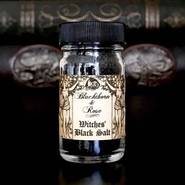 WITCHES' BLACK SALT - Natural Volcanic Black Lava Salt For Protection,  Banishing, Uncrossing, Curse & Hex Breaking