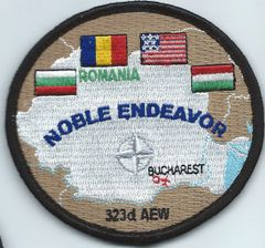 USAF PATCH 323 AIR EXPEDITIONARY WING WORN BY THE 492 FIGHTER SQUADRON ON VELCRO