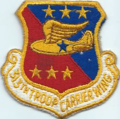 USAF PATCH 313 TROOP CARRIER WING