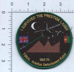 RAF PATCH 1563 FLIGHT OPERATION TORAL AVIATION DETACHMENT AFGHAN MADE T