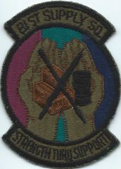 USAF PATCH 81 SUPPLY SQUADRON RAF BENTWATERS