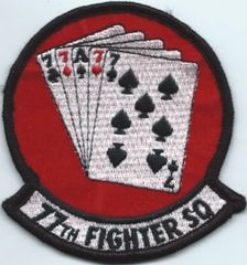 USAF PATCH 77 FIGHTER SQUADRON F-16 ERA SHAW AFB