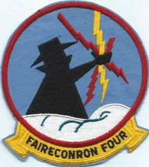US NAVY FAIRECONRON FOUR VQ-4 NICE OLD 5 INCH VERSION 1970'S ERA