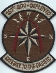 USAF PATCH 157 AIR OPERATIONS GROUP IN DESERT AIR NATIONAL GUARD