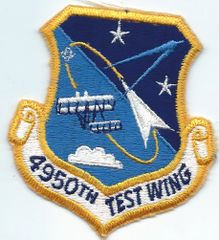 USAF PATCH 4950 TEST WING