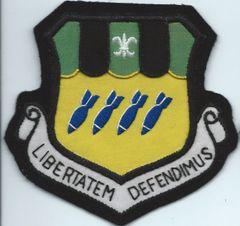 USAF PATCH 2ND BOMBARDMENT WING BLAZER / BULLION TYPE PATCH (MH)