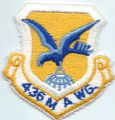 USAF PATCH 436 MILITARY AIRLIFT WING