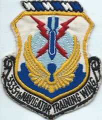 USAF PATCH 3555 NAVIGATOR TRAINING WING (MH)