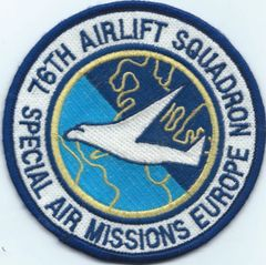 USAF PATCH 76 AIRLIFT SQUADRON RAMSTEIN AFB GERMANY USAFE