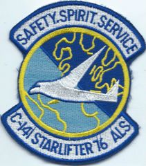 USAF PATCH 76 AIRLIFT SQUADRON C-141 STARLIFTER ERA