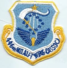 USAF PATCH 446 MILITARY AIRLIFT WING (ASSOC)