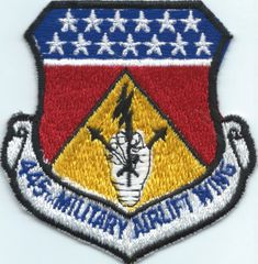 USAF PATCH 445 MILITARY AIRLIFT WING