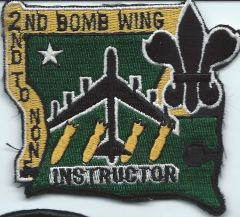 USAF PATCH 2ND BOMBARDMENT WING INSTRUCTOR B-52 (MH)