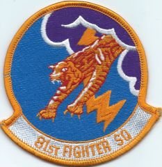 USAF PATCH 81 FIGHTER SQUADRON A-10 SPANGDAHLEM ERA