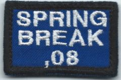 USAF PATCH 492 FIGHTER SQUADRON PENCIL PATCH SPRING BREAK 2008 DEPLOYMENT TO ROMANIA