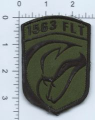 RAF PATCH 1563 FLIGHT OPERATION TORAL BASED AT KABUL PATCH IS AFGHAN MADE