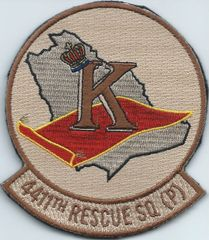 USAF PATCH 4411 RESCUE SQUADRON (PROV) ON VELCRO