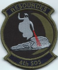USAF PATCH 4 SPECIAL OPERATIONS SQUADRON RE$OURCE$**