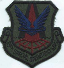 USAF PATCH 39 SPECIAL OPERATIONS WING RAF ALCONBURY