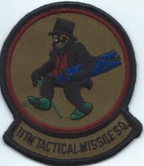 USAF PATCH 11 TACTICAL MISSILE SQUADRON GLCM RAF GREENHAM COMMON SUBDUED VERSION