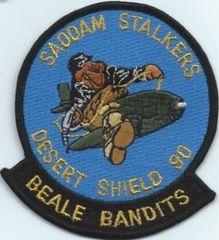 USAF PATCH 349 AIR REFUELING SQUADRON DESERT SHEILD BWEALE BANDITS