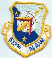 USAF PATCH 512 MILITARY AIRLIFT WING