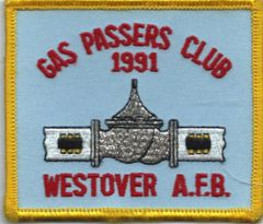 USAF PATCH 439 SUPPLY SQUADRON POL SECTION GASS PASSERS 1991