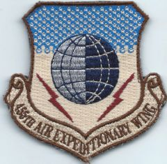USAF PATCH 455 AIR EXPEDITIONARY WING COLOR VERSION ON VELCRO