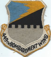 USAF PATCH 449 BOMB WING (MH)