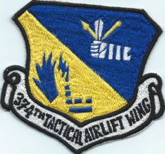 USAF PATCH 374 TACTICAL AIRLIFT WING FAR EAST MADE