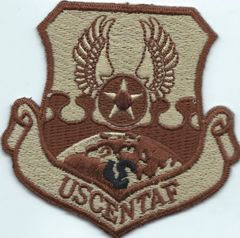 USAF PATCH CENTAF COMMAND SHIELD IN DESERT COLORS
