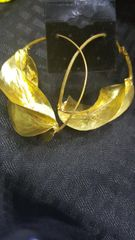 Fulani Earrings - Gold-Tone - Handmade - Lightweight - Nickle Free