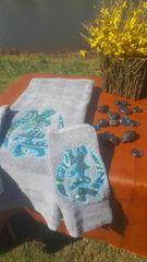 Grey Gye Nyame Three Piece Towel Set