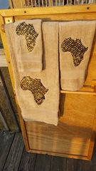 Khaki Africa Three piece Towel Set