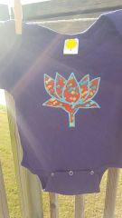 Purple Baby Onesie with Mosaic Lotus