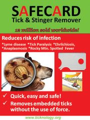 20x SAFECARD tick removal tool for pets and animals