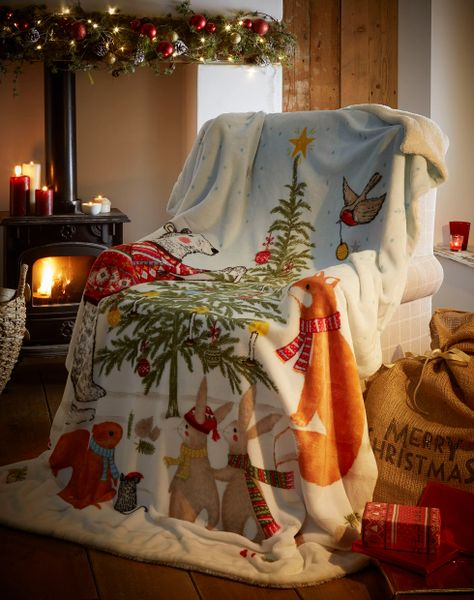 Night Before Christmas fleece throw / blanket