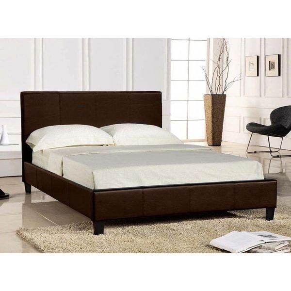 Brooklyn brown faux leather bed frame