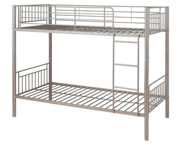 Silver single metal bunk beds