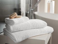 Hampton white Egyptian Cotton towels