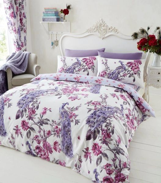 Plume purple duvet cover