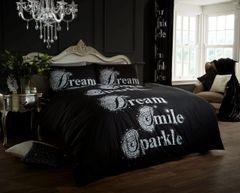Sparkle black duvet cover