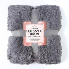 Fluffy Fur charcoal throw