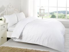 White Egyptian Cotton 200 TC fitted sheet