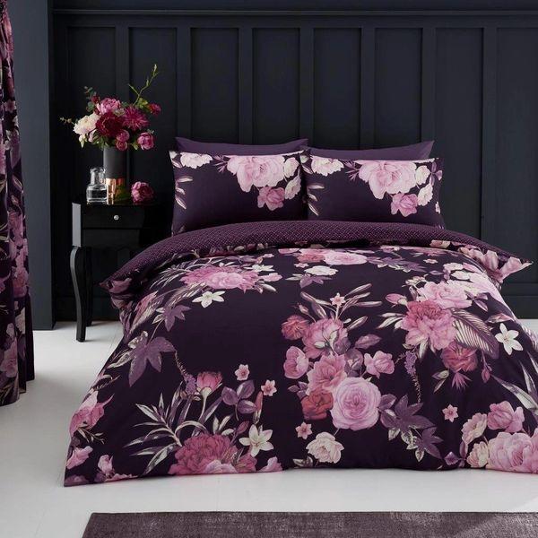 Flora purple duvet cover