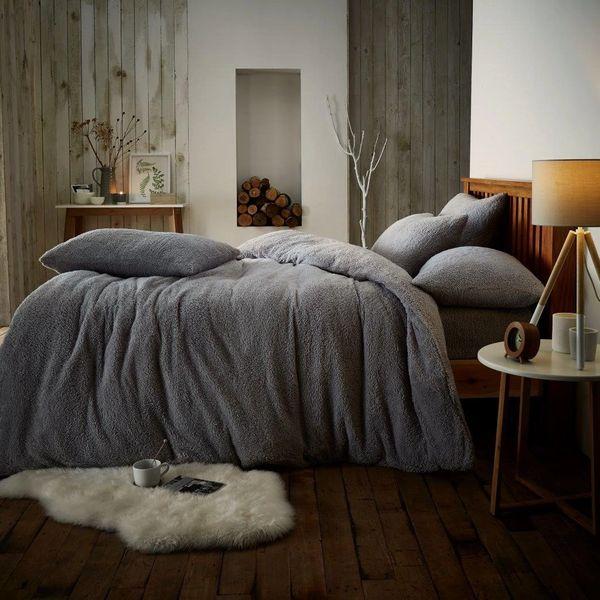 Teddy fleece duvet cover various colours
