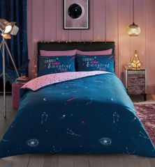 Cosmic Stardust cotton blend duvet cover