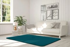 Velvet teal rug